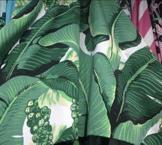 Brazilliance Banana Leaf Fabric - Dorothy Draper