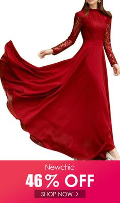 I found this amazing Red Long Sleeve Lace Chiffon Maxi Prom Dresses with US$47.99,and 14 days return or refund guarantee protect to us. --Newchic #Womensdresses #womendresses #womenapparel #womensclothing #womensclothes #fashion #bigdiscount #shopnow Cheap Maxi Dresses, Prom Dresses, Red Maxi, Fashion 2020, Women's Fashion, Red Gowns, Chiffon Maxi, Lace Sleeves, Ankle Length