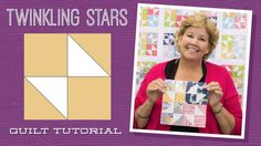 Make a Twinkling Stars Quilt with Jenny Doan of Missouri Star! Charm Pack Quilt Patterns, Charm Pack Quilts, Charm Quilt, Star Quilt Patterns, Star Quilt Blocks, Star Quilts, Easy Quilts, Missouri Star Quilt Tutorials, Quilting Tutorials