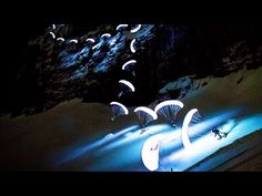 Just Speed Riding at Night With an Illuminated Parachute..     «TwistedSifter