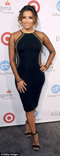 Sheer beauty! The 41-year-old star showcased her phenomenal figure in a skintight cocktail...