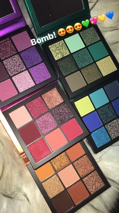 huda beauty gemstone obsessions palettes - full_make_up_pintennium Makeup Goals, Makeup Kit, Skin Makeup, Makeup Inspo, Eyeshadow Makeup, Makeup Cosmetics, Makeup Brushes, Beauty Makeup, Eyeliner