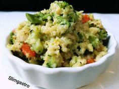Brokkolis köles rizotto Vegetarian Recipes, Healthy Recipes, Vegan Breakfast, Fried Rice, Guacamole, Meal Prep, Healthy Snacks, Paleo, Food And Drink