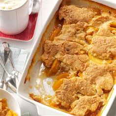 "Iva's Peach Cobbler Recipe  ""This is a really good cobbler because the crust is just perfect. I would give it 6 stars if I could."""