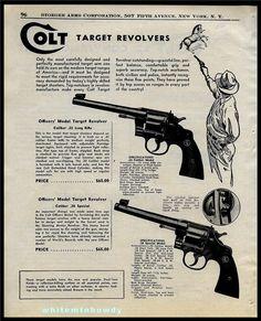 1948 COLT Officers' Target 22 38 Revolver PRINT AD : Other Collectibles at GunBroker.com
