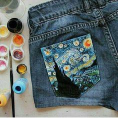 Cute painted pocket