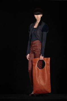 oversized leather bag by Esther Perbandt