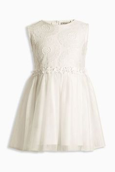 Buy Ecru Floral Lace Party Dress (3mths-6yrs) online today at Next: Greece