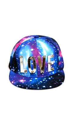 Blue Love Galaxy Snapback Cap | Snapback http://www.omgfashion.com/shop/blue-love-galaxy-snapback-cap?attr_id= Dont know why but I do LOVE this!