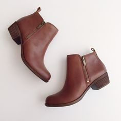 "Luckybrand basel brown bootie Brand new with box. Retails for $129. Please use ""offer"" button to make any offers. TRADES WILL BE IGNORED. Lucky Brand Shoes Ankle Boots & Booties"