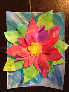 Monet-Working 4 the Classroom: An Art Project, Because.Spring Has Sprung! This is such a beautiful project- perfect for Mother's Day or for an art history lesson involving Monet. Classroom Art Projects, School Art Projects, Art Classroom, Spring Art Projects, Spring Crafts, Art History Lessons, Art Lessons, Kindergarten Art, Preschool Art
