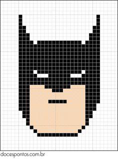 Batman perler bead pattern                                                                                                                                                     Mais