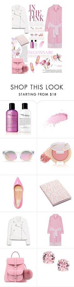 """Untitled #2586"" by amimcqueen ❤ liked on Polyvore featuring philosophy, Benefit, Madewell, Jane Iredale, Giuseppe Zanotti, Nuuna, MANGO, Maison Margiela, Grafea and L. Erickson"