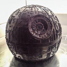 Death Star Cake start to finish  #starwars #deathstar #cake