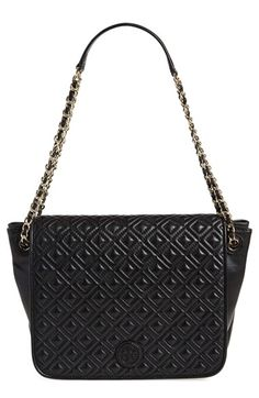 Tory Burch 'Small Marion' Diamond Quilted Lambskin Leather Shoulder Bag