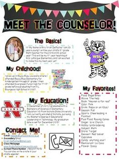 THIS ONE IS FOR YOU COUNSELORS!!! Looking for a cute newsletter you can hand out during open house or on the first day of school for your students and parents to get to know you??? This completely editable newsletter is what you need!! Customize the headers and the bodies of text!