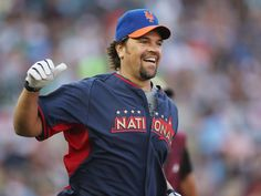 Mike Piazza after hitting a home run.