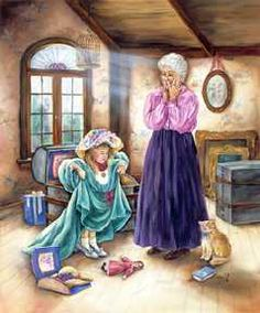 """Paula Vaughan Art Gallery (Prints) / Open Edition on Paper ~ """"Look Granny It Fits"""""""