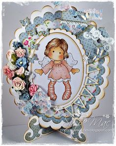 Sugar n Spice: Totally Tilda DT #68 Shaped Card - No Sqaures/Rectangles