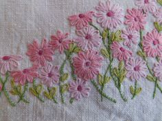 VINTAGE Hand Embroidered Hand towel by YesteryearEmbroidery, $8.00