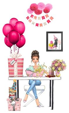 Happy Birthday Debra by beleev on Polyvore featuring art