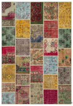 Our vintage patchwork rugs sew together cultures, traditions and history, creating beautifully unique rugs. We carefully select Turkish hand-knotted rugs to create our collection of patchwork rugs. We trim the piles for a vintage look. We then cut them into smaller pieces and hand sew the fragments together with a sturdy yarn. We back the patchwork rug with buckram and a cotton cloth that strengthens the rug. The rearrangement of the fragments transforms the ancient craft of rug making into…