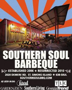 Southern Soul Barbeque on Saint Simons Island, Georgia. Best bbq in the usa.hands down! Loved this restaurant! St Simons Island Georgia, St Simon Island Ga, Georgia Islands, Atlanta Restaurants, Georgie, Jekyll Island, Smoked Brisket, Smoked Pork, Smoked Chicken