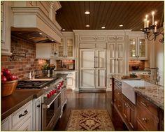Kitchen: Brick Backsplash Kitchen ~ Home Interior Design Photos: Kitchen With Brick Backsplash
