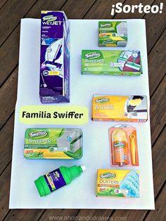 Sistema de limpieza con la familia Swiffer - Sorteo de una canasta de productos.