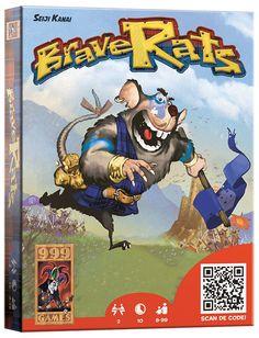 BRAVERATS! Kies in dit eenvoudige blufspelletje voor 2 spelers steeds in het geheim een kaart. De hoogste waarde wint, maar speciale eigenschappen kunnen alles in de war schoppen. Zo schaakt de Prinses bijvoorbeeld de Prins, waardoor de eigenaar van de Prinses het spel direct wint. De Musicus kan op zijn beurt echter de eigenschappen van de andere kaart neutraliseren. Een pokerface komt daarom erg goed van pas.  http://www.planethappy.nl/999-games-braverats.html