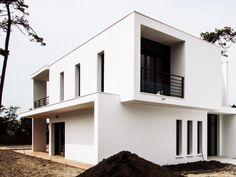 Construction d'une villa à Anglet Chiberta - maison contemporaine - toiture terrasse - cubes
