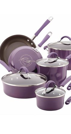 This lavender Rachael Ray cookware set is the perfect pop of color.