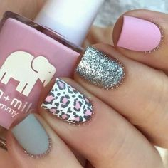Matte Leopard Nails Milky Way Nails ★ Here are 19 ideas for really cute nails you will love! There are a ton of nail art designs out there, so how do you know which one is best for you? Leopard Nail Art, Leopard Print Nails, Leopard Prints, Pink Cheetah Nails, Gray Nails, Gorgeous Nails, Fabulous Nails, Trendy Nails, Cute Nails