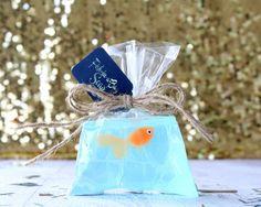 Savon orange poisson - poisson dans un sac Soap - savon Kids - nouveauté savon…