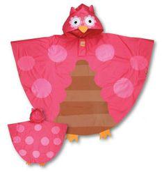 Owl Rain Poncho-25 Rainy Day Essentials for Kids