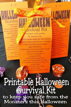Stay safe this Halloween from all the Zombies, Vampires, and Ghosts out there with a printable Halloween survival kit. This Halloween printable is a great Halloween treat for your kids or friends and will keep them smiling all night long. Halloween 2020, Easy Halloween, Halloween Party, Halloween Printable, Halloween Stuff, Halloween Themes For Work, Halloween Movie Night, Halloween Projects, Halloween Activities