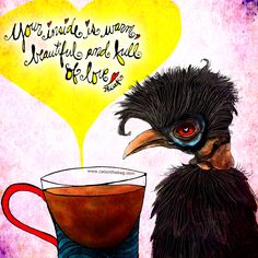 """""""Your inside is warm, beautiful and full of love."""" What my Coffee says to me May 11 - drink YOUR life in - you are beautiful and full of love so share your love everywhere heart emoticon (What my Coffee says to me is a daily, illustrated series created by Jennifer R. Cook for mental health) https://www.gofundme.com/k84nhxaj #coffee #warm #beautiful #love #coffeelovers #loveyourself #spreadlove #art #illustration #creativity #mentalhealth #coffeetime…"""