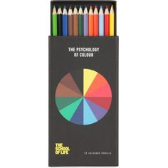 POLITE LTD Psychology of Colour coloured pencil set ($27) ❤ liked on Polyvore featuring home, home decor, office accessories, fillers, art, stationary, accessories, colored pencils, colored boxes and coloured pencils