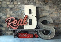 Creative Vintage, Signage, Signs, Sign, and Real image ideas & inspiration on Designspiration Marquee Letters, Light Letters, Typography Letters, Typography Design, Cursive Letters, Typography Inspiration, Design Inspiration, Creative Inspiration, Creation Deco
