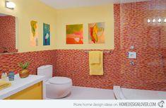15 Stunningly Hot Red Bathroom Designs