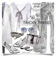 """Metalic  & Gray"" by goreti ❤ liked on Polyvore featuring Far + Wide Collective, Alberta Ferretti, Bianca Spender, Loewe, STELLA McCARTNEY, Dolce&Gabbana, Prada, mizuki, Lord & Taylor and TrickyTrend"