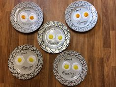 New to SissysFolkArt on Etsy: Good Morning Egg Plate plus hanger USD) Good Morning, Hanger, Decorative Plates, Egg, Create, Unique Jewelry, Handmade Gifts, Inspiration, Vintage