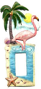 Switch Plate Covers, Flamingo Rocker Switch Plate, Light Switch Cover, Tropical Decor, Switchplate C Art Tropical, Tropical Home Decor, Tropical Design, Tropical Birds, Decorative Light Switch Covers, Switch Plate Covers, Light Switch Plates, Cross Wall Art, Metal Wall Art