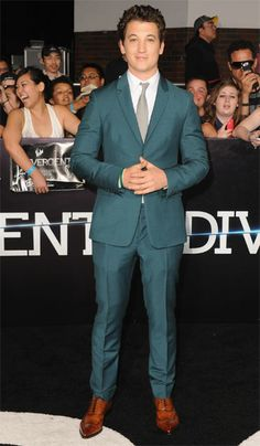 Miles Teller on the #DivergentPremiere Black Carpet