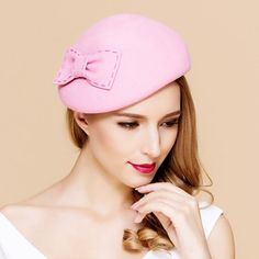 191cfeed7b2 Sweet bow beret hat for women vintage winter hats
