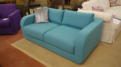 The Molly is one very blue sofa! Upholstered in a rich wool felt fabric