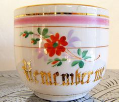 """Remember Me"" Vintage Tea Cup"