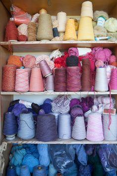 yarn on a shelf
