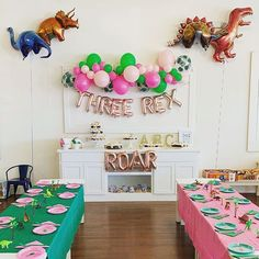 "✦ Please leave your event date in note ✦ Package Contains: - ""Three Rex letter balloons - White Straw – 8 inch - Straw _______________________________________ ♦ We Accept Custom-Order! ♦ ♦ How to inflate balloons? 3rd Birthday Party For Girls, Girl Dinosaur Birthday, Girl Birthday Themes, Dinosaur Party, Birthday Party Decorations, Elmo Party, Elmo Birthday, Mickey Party, Birthday Ideas"
