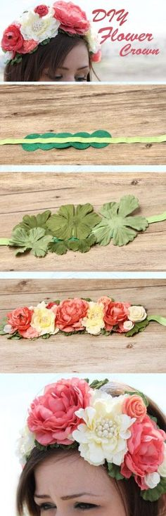 Make your own Flower Crown with this easy tutorial- perfect for weddings or festivals! Make your own Flower Crown with this easy tutorial- perfect for weddings or festivals! Flower Crafts, Diy Flowers, Fabric Flowers, Paper Flowers, Wedding Flowers, Flower Art, Diy Flower Crown, Diy Crown, Diy Unicorn